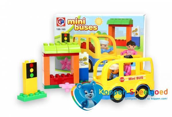 Grote bouwstenen mini bus