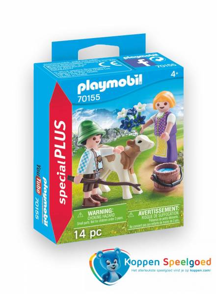 PLAYMOBIL Kinderen met kalf - 7155