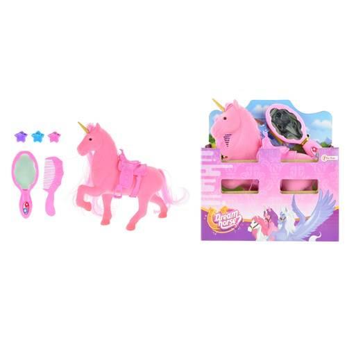 Eenhoorn in paardenstal roze