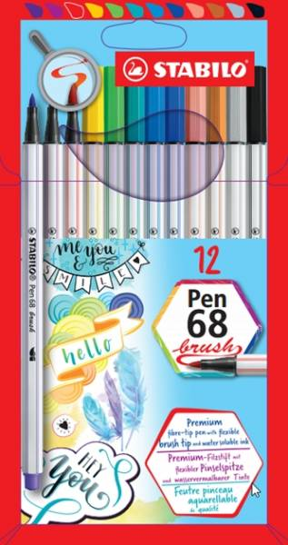 Viltstiften Stabilo pen 68 etui: 6 stuks (6806/8-1 1)