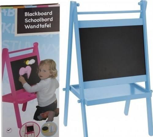 Schoolbord met standaard, gekleurd