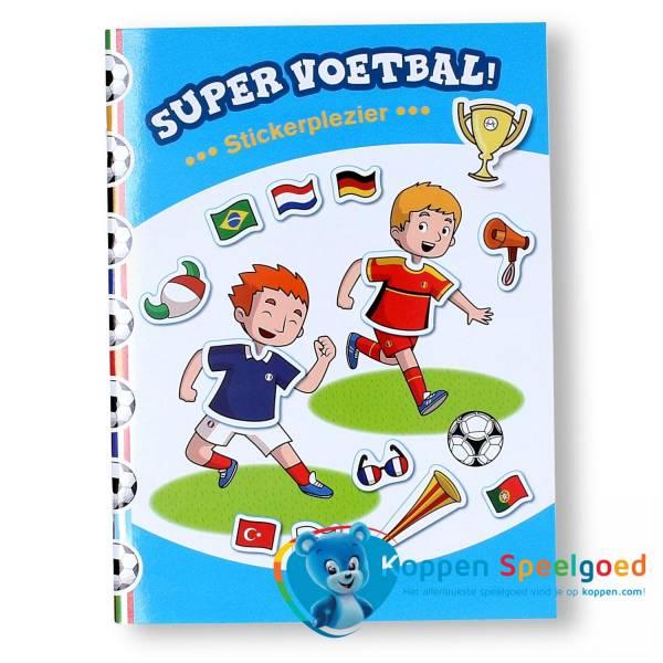 Boek super voetbal stickerplezier
