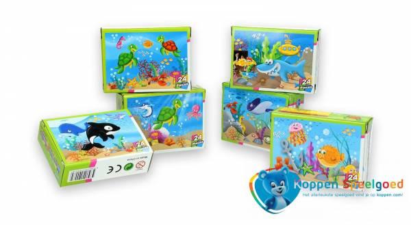 Puzzel zeedieren 24 stukjes