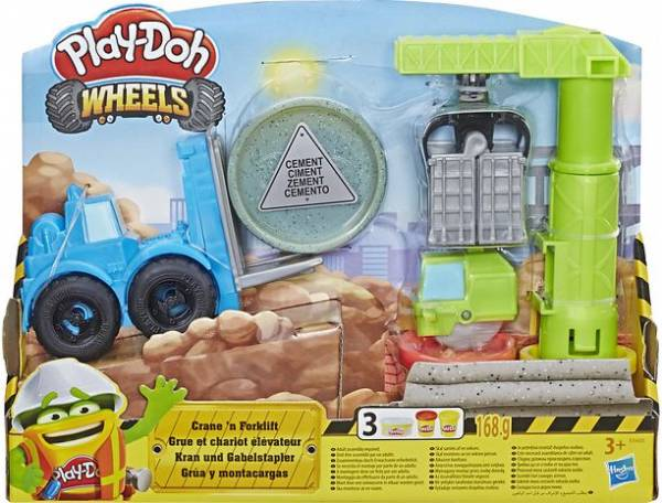 Kraan en Heftruck Play-Doh: 168 gram (E5400)
