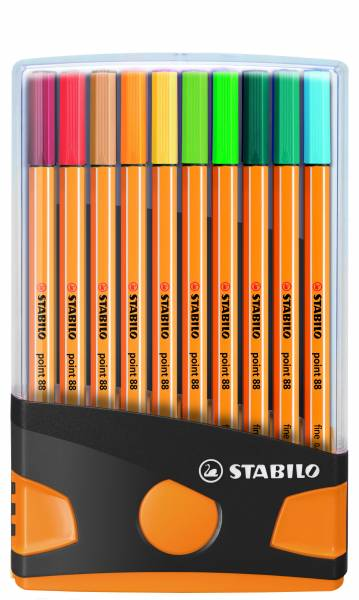Fineliners Stabilo Point 88 Colorparade: 20 stuks (8820-031-05)