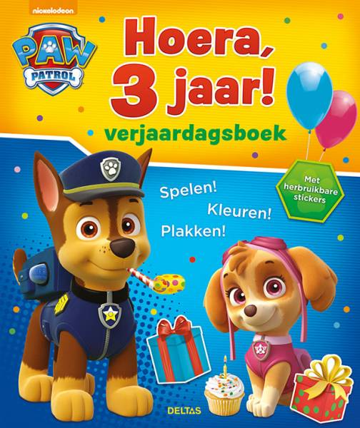 Verjaardagsboek Paw Patrol: Hoera 3 jaar (9%) (060 2709)