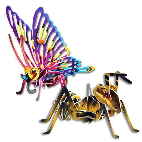 3D Bouwpakket mier of vlinder