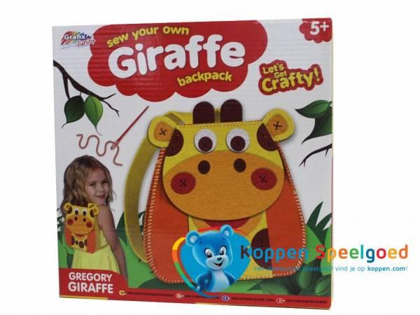 Maak je eigen rugzak van vilt giraffe