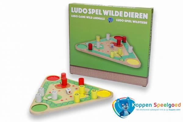Ludo spel wilde dieren, hout