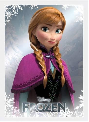 Frozen Poster luxe houten lijst Anna