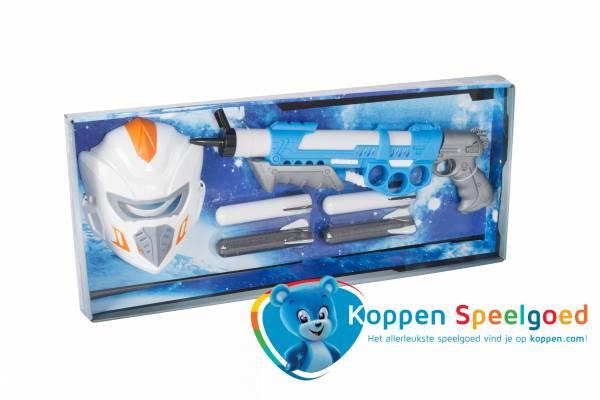 Ruimtegeweer met masker