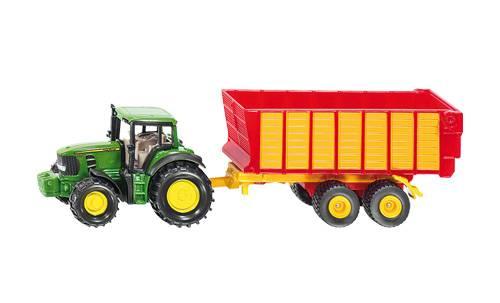 Siku John Deere tractor met silagewagen