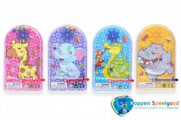 Flipperspel vrolijke dieren met doolhof
