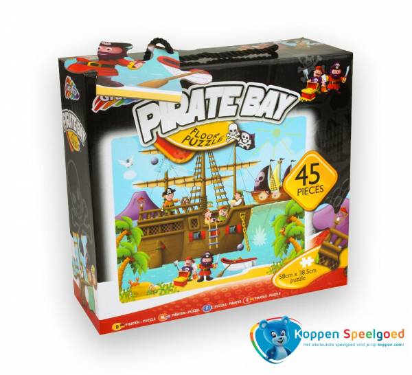Vloerpuzzel piratenbaai 45 stukjes