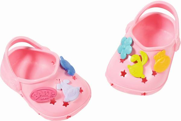 Schoenen met leuke pins Baby Born: zalmroze (86813 6/824597)