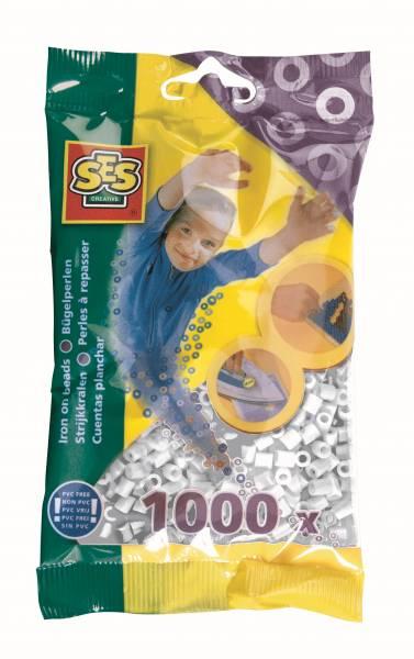 SES Strijkkralen wit 1000 stuks