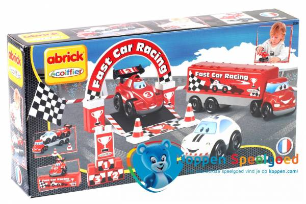 écoiffier Abrick raceauto's speelset