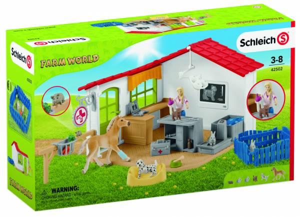Dierenartspraktijk met huisdieren Schleich (42502)
