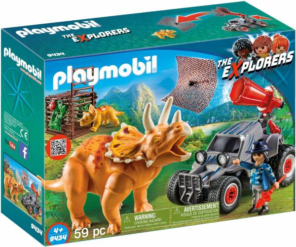 Offroad buggy met dinovangnet Playmobil (9434)
