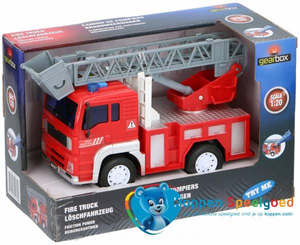 Brandweer auto met licht en geluid 18cm