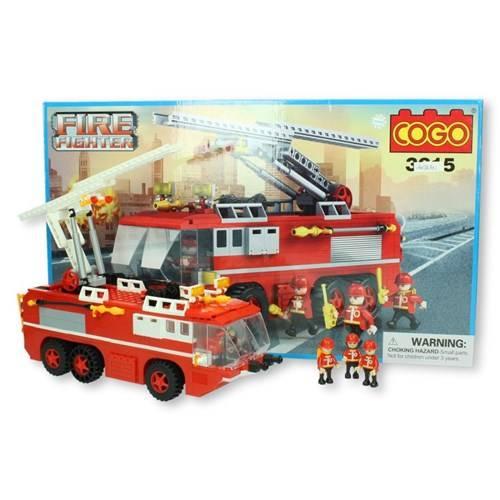 COGO Brandweer bluswagen 424 stukjes