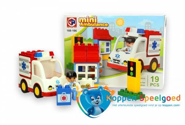 Grote bouwstenen mini ambulance