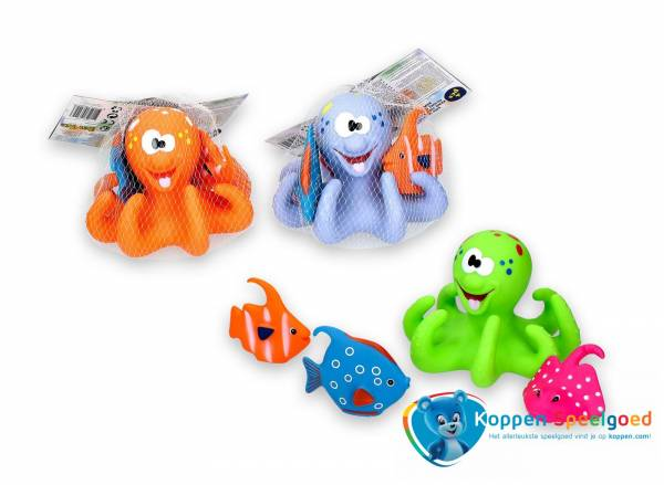 Badspeelset octopus en drie kleintjes