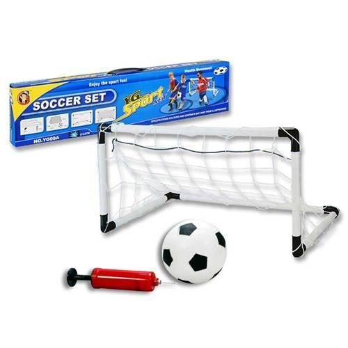 Voetbalgoal inclusief bal en pomp