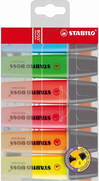 Markeerstiften Stabilo Boss original 6 stuks