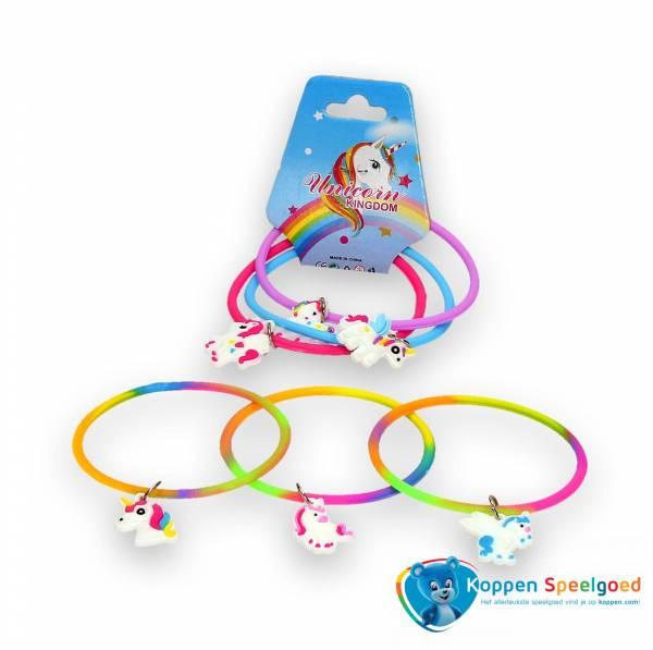 3 armbandjes met eenhoorn