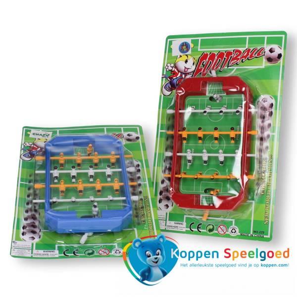 Tafelvoetbal spel op kaart