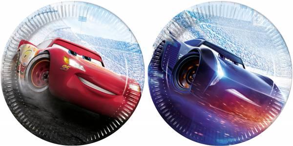 Bordjes Cars 23 cm: 8 stuks (89464P)