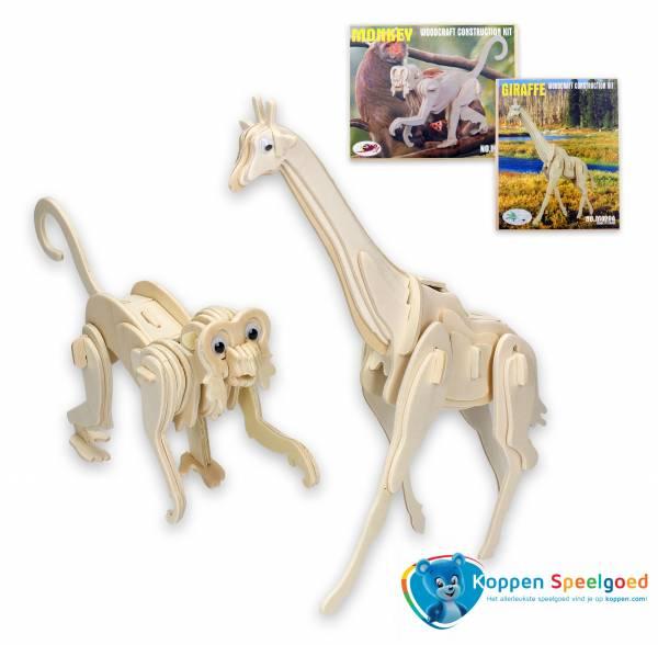 Bouwpakket 3D dieren, hout