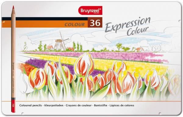Kleurpotloden in blik Expression: 36 stuks (7705M3 6)