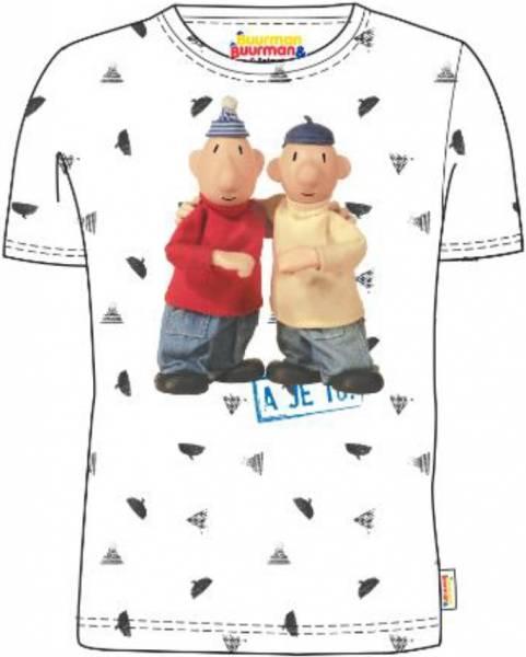 T-shirt Buurman en Buurman: wit maat 110/116