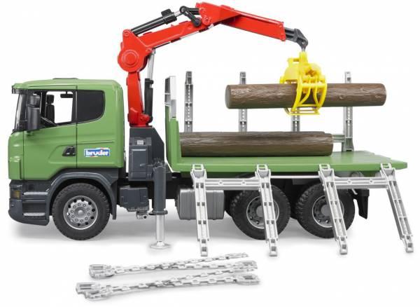Scania vrachtwagen met laadkraan Bruder (03524)