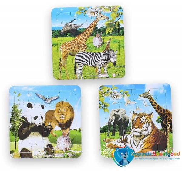 Mini puzzel wilde dieren