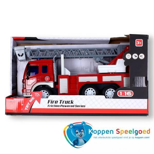 Brandweer ladderwagen met licht en geluid