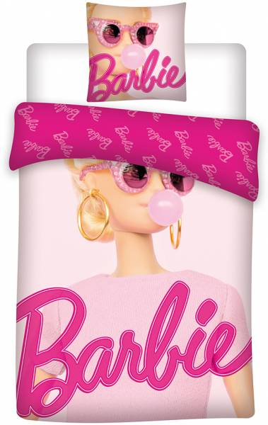 Dekbed Barbie (029BB): 140x200/65x65 cm