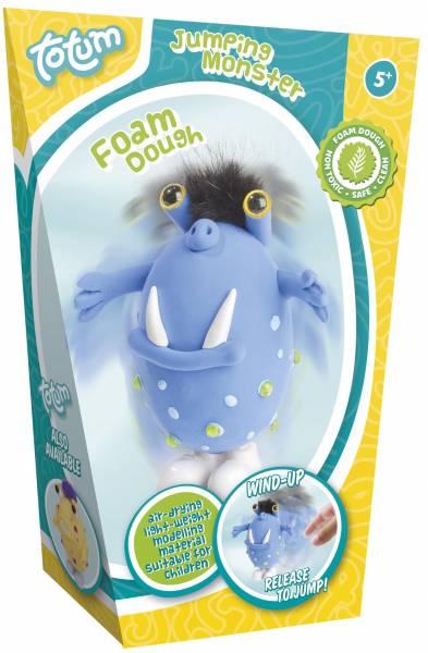 Foamdough ToTum springend monster blauw