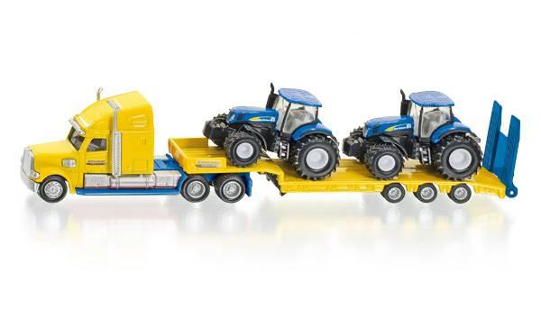 Vrachtwagen met 2 New Holland Tractoren SIKU (1805 )
