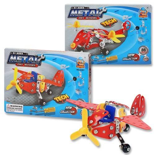 Constructiedoos metaal vliegtuig