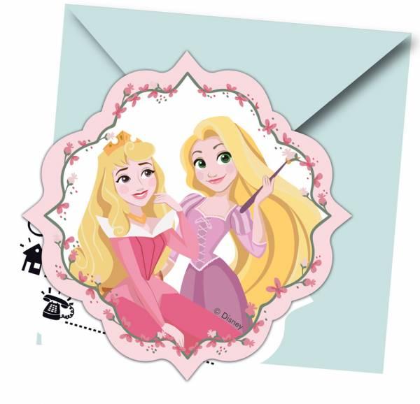 Uitnodigingen Princess: 6 stuks (89225P)