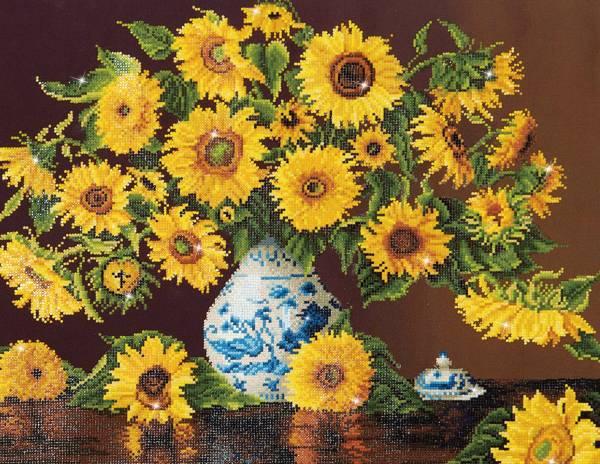Sunflowers in a china vase Diamond Dotz: 71x56 cm (DD13.006)
