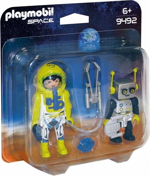 DuoPack astronaut en robot Playmobil (9492)