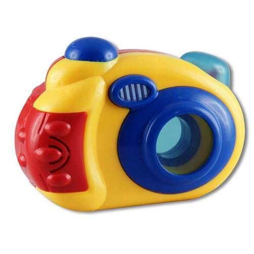 Fotocamera met licht en geluid