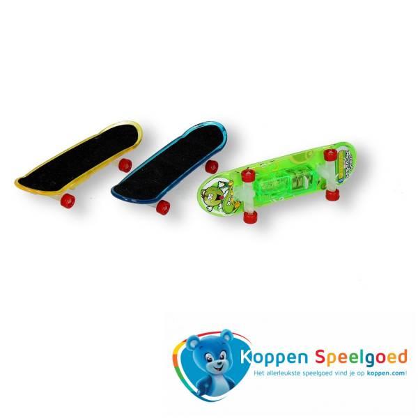 Vinger skateboard met licht