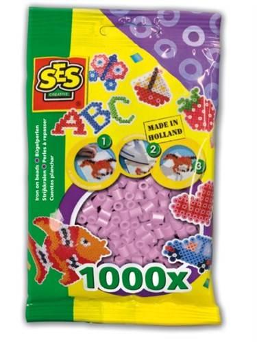 SES Strijkkralen parelmoer roze 1000 stuks