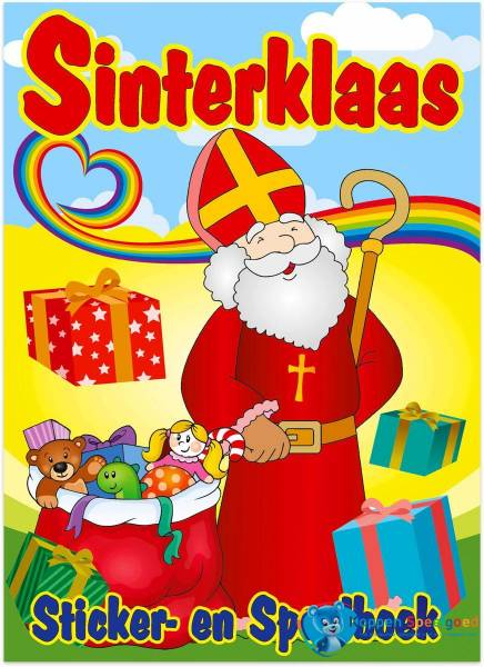 Sinterklaas speel-, kleur- en stickerboek