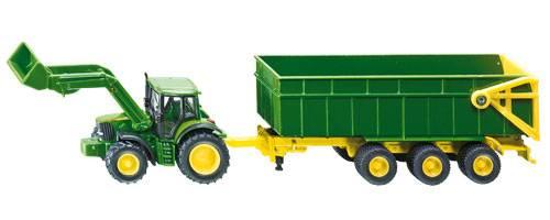 Siku John Deere tractor met aanhangwagen